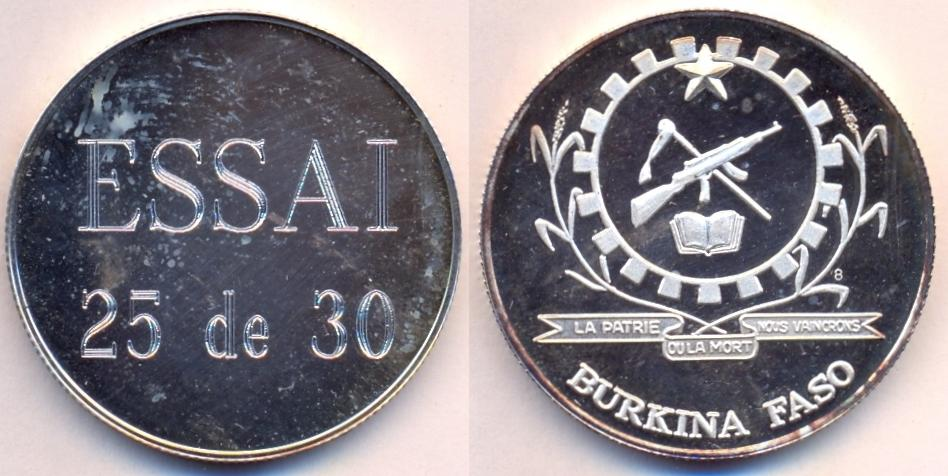Burkina Faso Coins With Rulers