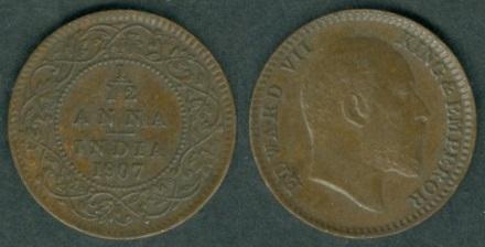 British India coinage under Edward VII 1903-1910